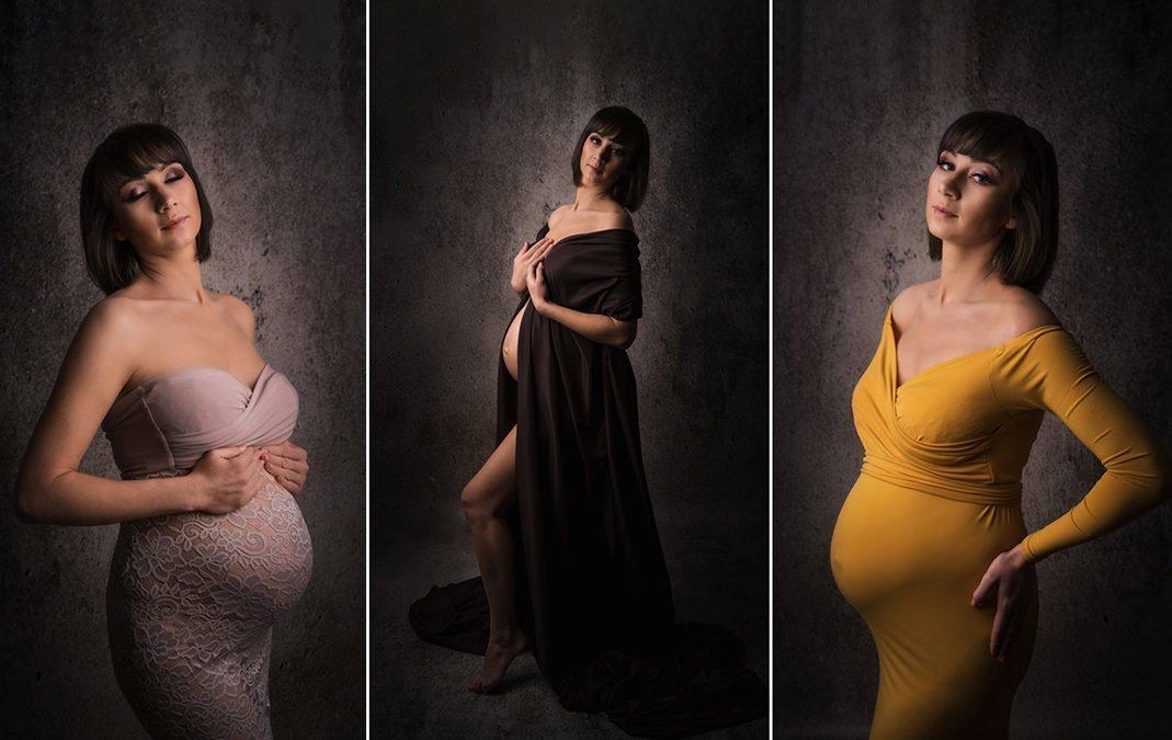 Sesja ciążowa w studio z makijażem | Magda