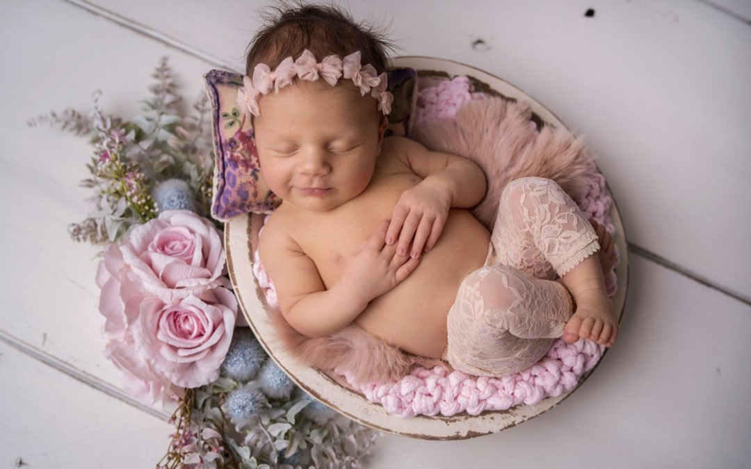 Sesja noworodkowa Skierniewice – Żyrardów | Amelia 17 dni