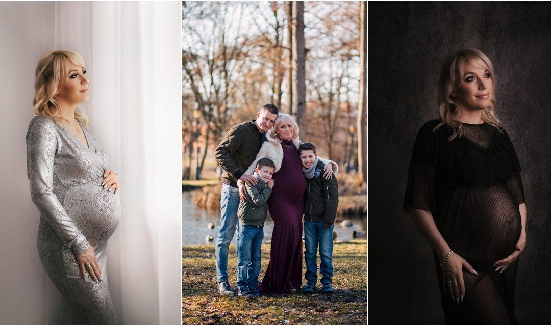 Sesja ciążowa w studio i plenerze Warszawa Ursus – Żyrardów | Justyna z rodziną