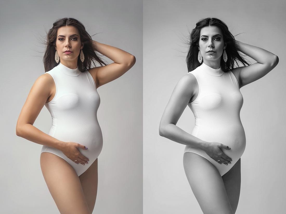 sesja ciążowa w bialym body