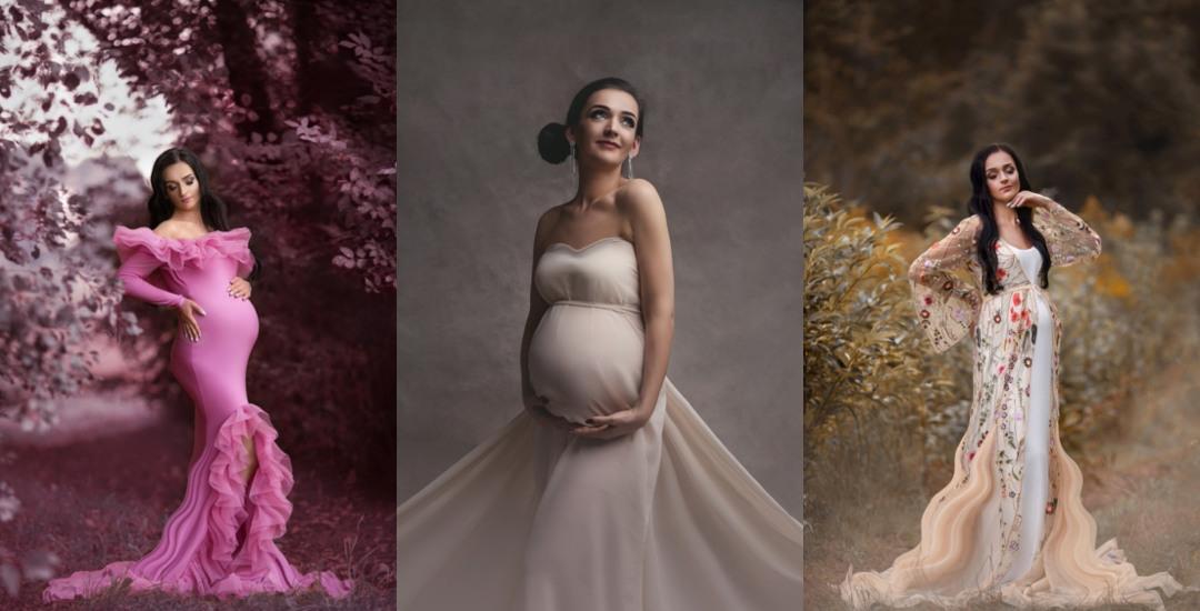 Sesja ciążowa w studio i w plenerze | czyli sesja 2 w 1